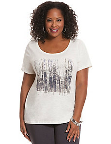 Embellished tree graphic tee