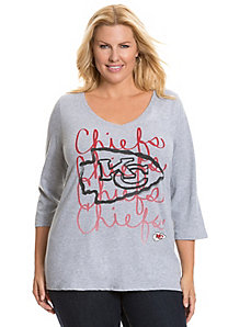 Kansas City Chiefs 3/4 sleeve tee