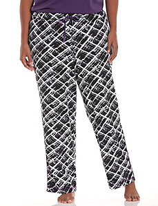Sketchy plaid sleep pant
