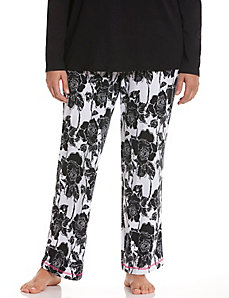 Rose print sleep pant