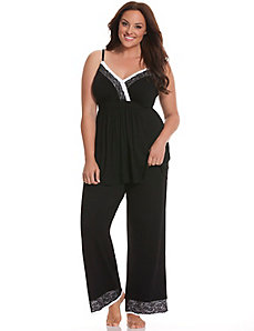 Tru to You lace trim PJ set