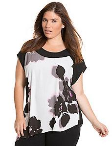 Floral chiffon back blouse
