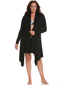 Tru to You ribbed wrap robe