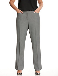 Straight fit birdseye trouser