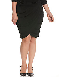 Simply Chic matte Jersey faux wrap skirt