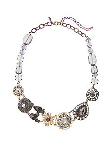 Frosted stone statement necklace