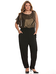 Gold top jumpsuit