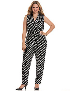 Simply Chic printed draped jumpsuit