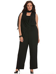 6th & Lane scarf-tie jumpsuit