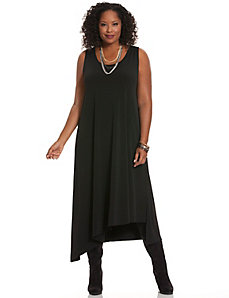 Simply Chic asymmetric hem maxi dress