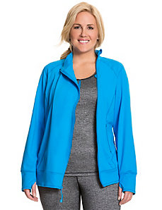 TruDry asymmetric zip active jacket