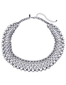 Stone statement collar necklace