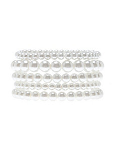 Faux pearl stretch bracelets