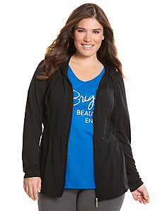 Peplum active jacket