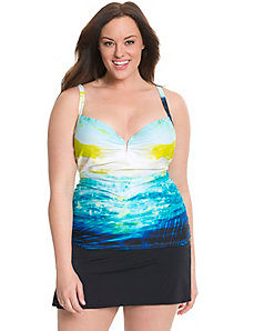 Sunset swim tank with built-in balconette bra