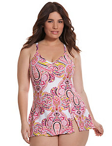 Paisley swim dress