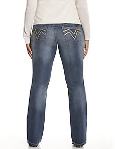 Zig zag embroidered bootcut jean by Seven7