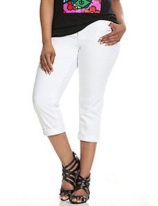 Genius Fit™ white denim crop