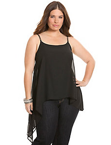 Chain strap asymmetric cami