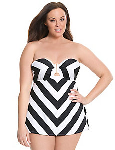 6th & Lane strapless balconette swim tank