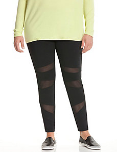 6th & Lane mesh blocked leggings