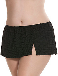 Crocheted swim skirt