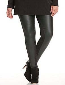 Faux leather & suede legging by Lysse