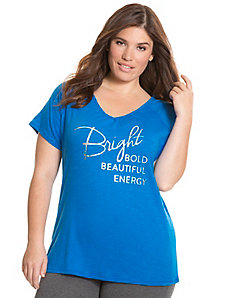 Bright foiled graphic tee