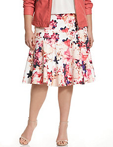 Floral skater skirt