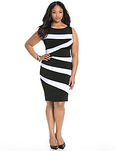 Control Tech spliced stripe dress