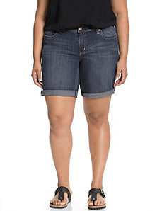 Roll cuff denim short by Seven7