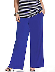 Simply Chic matte Jersey wide leg pant