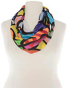 Pop print eternity scarf by Romero Britto