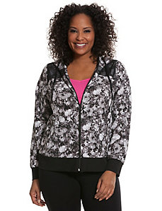 Floral woven active jacket