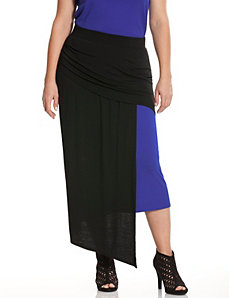 Colorblock knit skirt