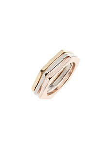 Stacked nut ring set