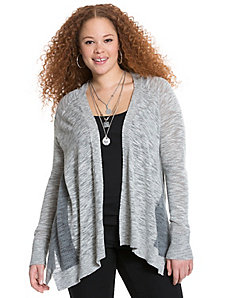 Perforated open cardigan