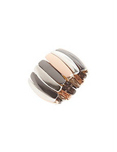 Tri-tone stretch ring