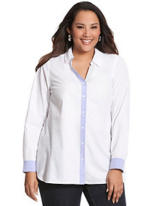 Contrast placket tunic