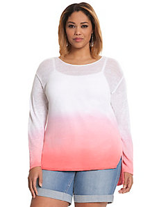 Dip dye high-low sweater