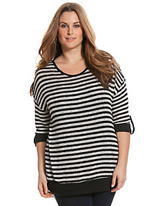 Stripe block hacci top