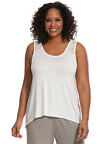 Tru to You lace back sleep tank