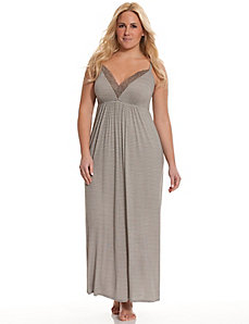 Tru to You striped sleep maxi lounger