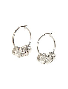 Hoop earrings with rondelle charms
