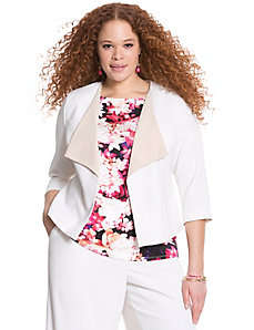 Soft twill draped jacket