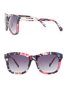 Floral wayfarer sunglasses