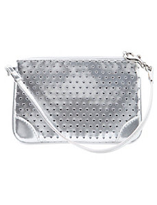 Heart perforated wristlet