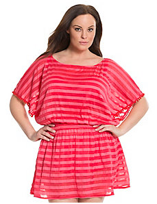 6th & Lane burnout stripe swim cover-up