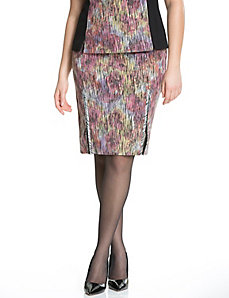 Ikat pencil skirt by Isabel Toledo