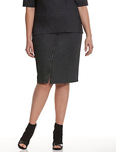 6th & Lane asymmetric zipper skirt